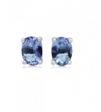 Helenite Stud Earrings Sterling Silver