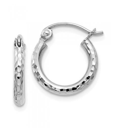 White Diamond cut Round Earrings Diameter
