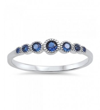 Womens Simulated Sapphire Sterling Silver