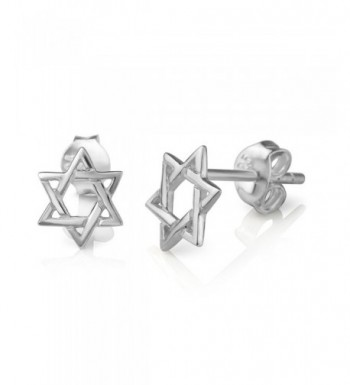 Sterling Silver Hexagram Geometric Earrings