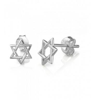 Sterling Silver Hexagram Geometric Earrings