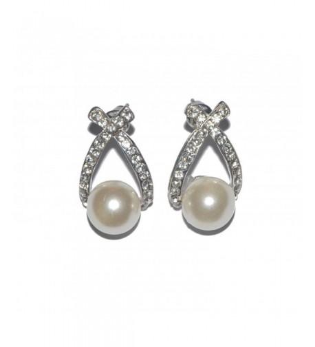 Qixuan Fashion Rhinstone Waterdrop Earrings