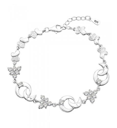 EleQueen Sterling Butterfly Bracelet Extender