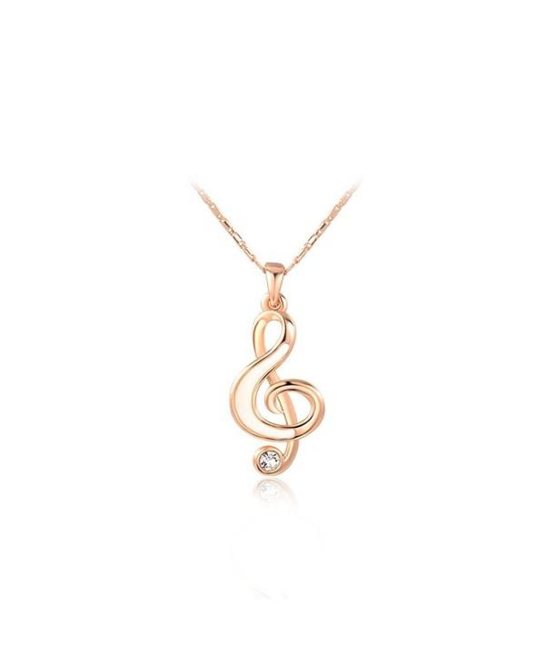 O4U Musical Unique Crystal Necklace