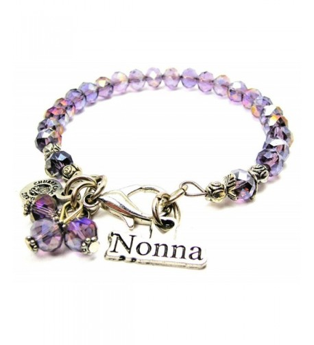 Italian Grandmother Splash Bracelet Lavender