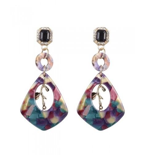 Geometric Acrylic Rinestone Earrings Bohemian