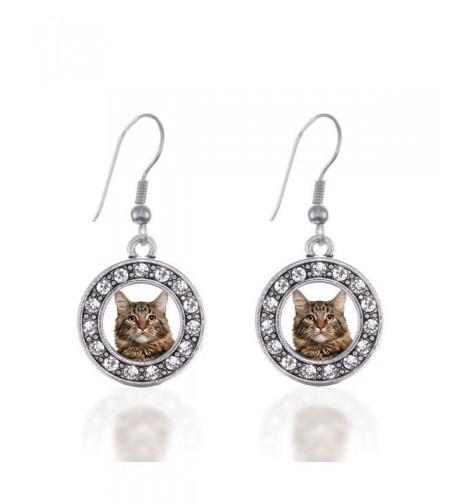 Circle Earrings French Crystal Rhinestones