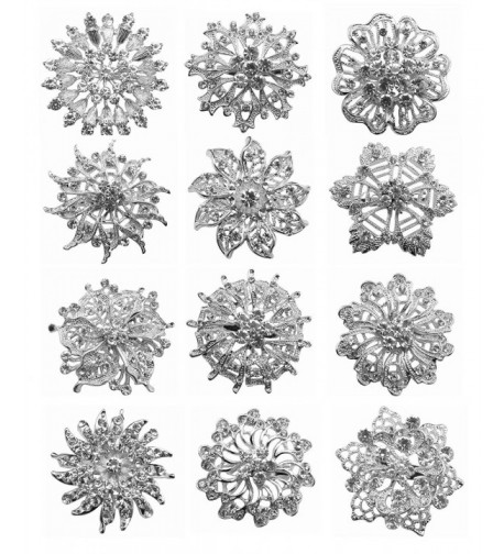 Wholesale Crystal Flower Bridal Brooches