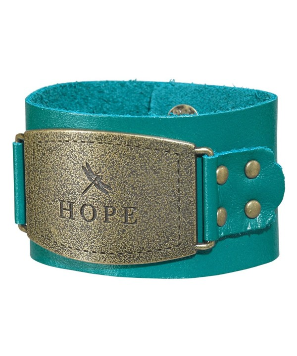 Ladies Leather Christian Wristband Buckle