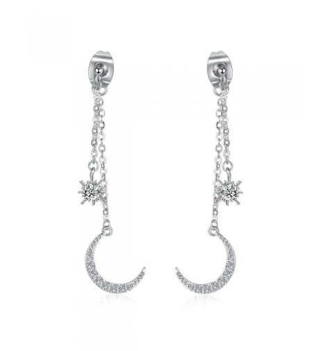 DOMILINA Platinum Crystal Jackets Earrings
