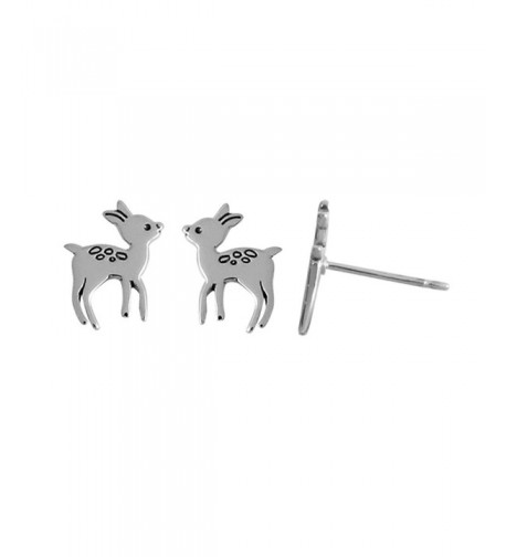 Boma Sterling Silver Deer Earrings