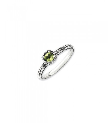 Antiqued Sterling Silver Stackable Peridot