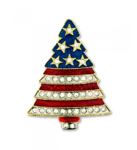 PinMarts Rhinestone Patriotic Christmas Holiday