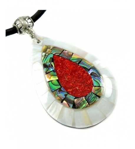 Handmade Mother Abalone necklace CA423