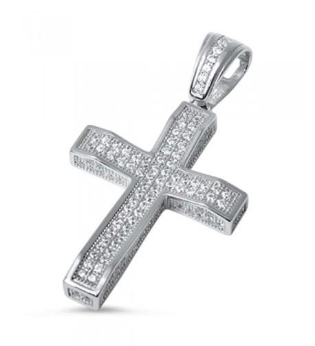 Micro Zirconia Sterling Silver Pendant