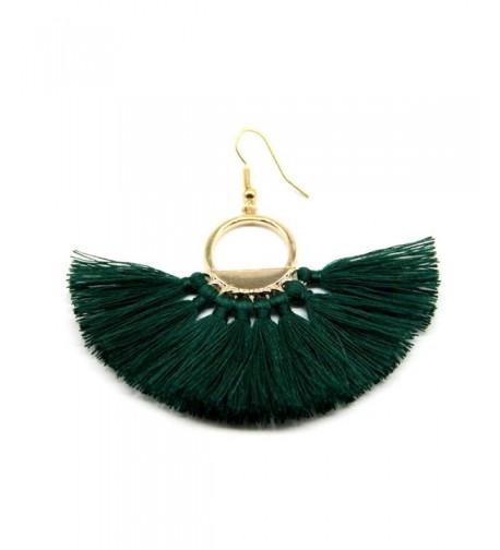 SUNGULF Bohemian Earrings Fan shaped Handcrafted