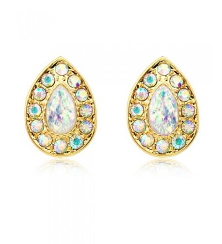 Gold Plated Faux Avice Earrings