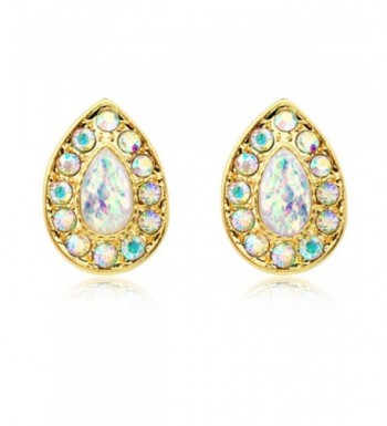 Gold Plated Faux Avice Earrings