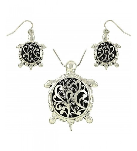 DianaL Boutique Filigree Necklace Earrings