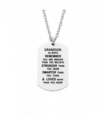CAROMAY Pendant Necklaces Grandson Stronger