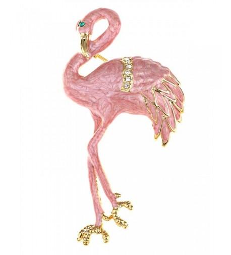 Alilang Pearlescent Flamingo Crystal Rhinestone