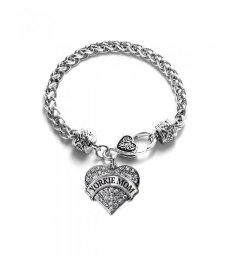 Yorkie Bracelet Silver Lobster Crystal