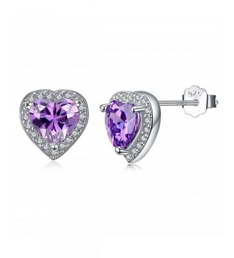 Sterling Earrings Amethyst Birthstone Christmas