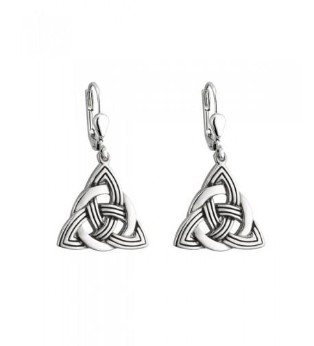 Trinity Earrings Rhodium Plated Irish