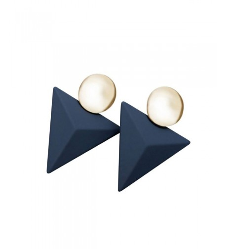 Fashion Goldtone Earrings Triangle Plastic