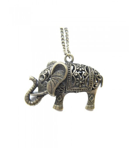 Elephant Necklace Antique Bronze Jewelries