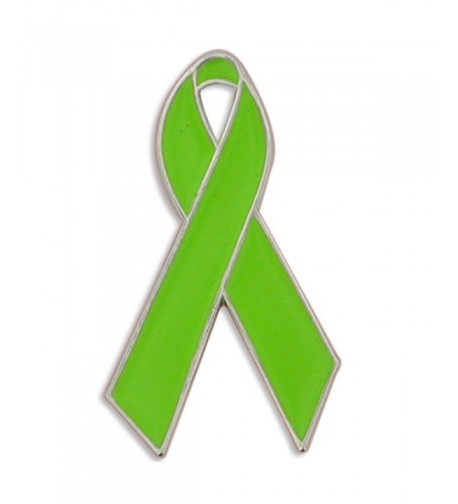 PinMarts Green Awareness Ribbon Enamel