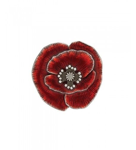 Danforth Remembrance Poppy Brooch Pin