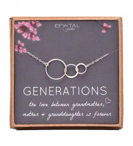 Generations Necklace Interlocking Granddaughter Jewelry