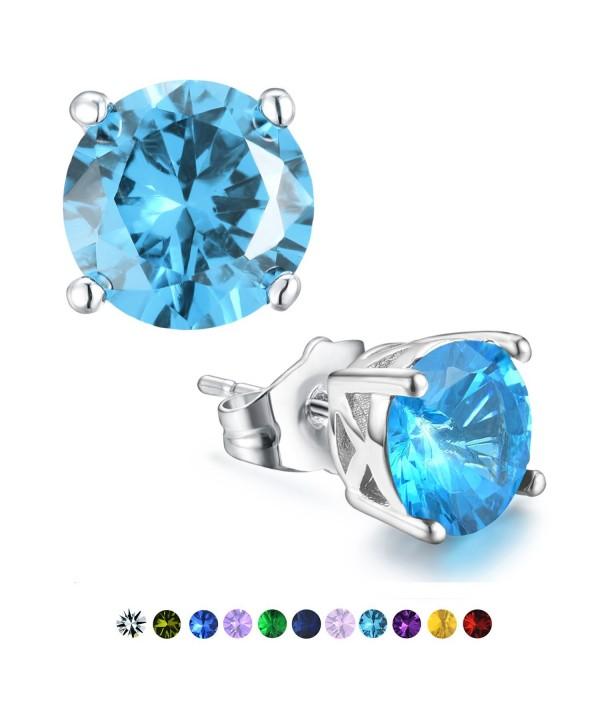 Casfine Birthstone Earrings Zirconia Diamond