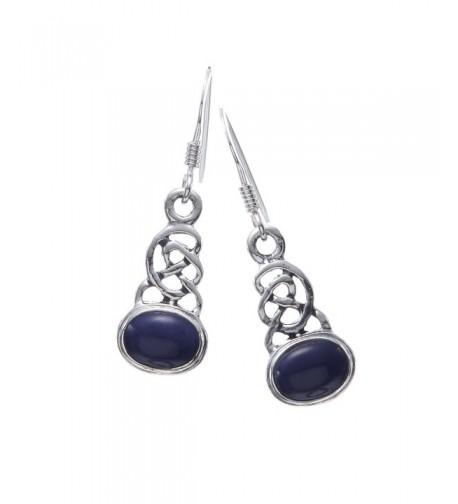 Sterling Silver Celtic Lazuli Earrings
