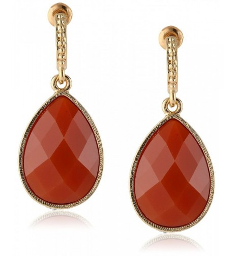 1928 Jewelry Domenica Gold Tone Persimmon
