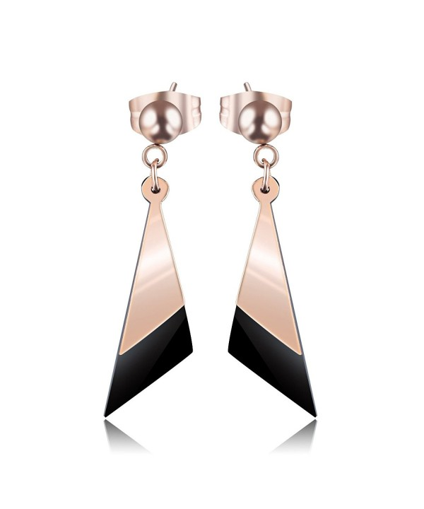 Carfeny Jewelry Stainless Earrings Triangle