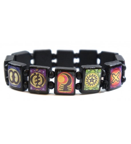 Ancient Adinkra Symbols Stretch Bracelet