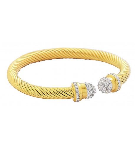 Edforce Stainless Stackable Bracelet Zirconia