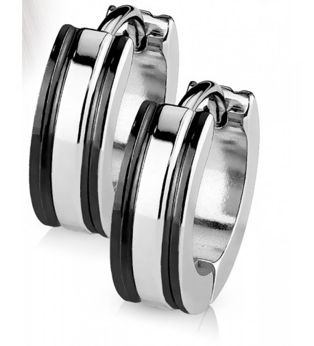 Earrings Surgical Stainless Rhodium Hypoallergenic