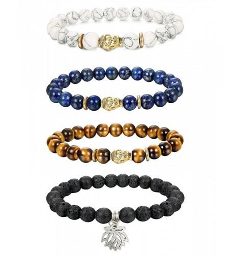 Thunaraz Unisex Buddha Bracelets Turquoise