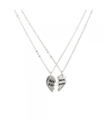 Sisters Forever Broken Friends Necklace