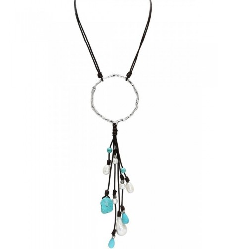 PearlyPearls Freshwater Necklace Turquoise Bohemian