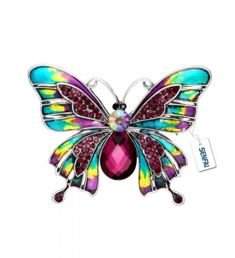SENFAI Painted Colorful Butterfly Crystal