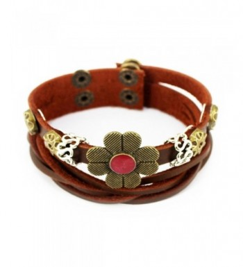 Christmas Four Petal Vintage Adjustable Bracelet