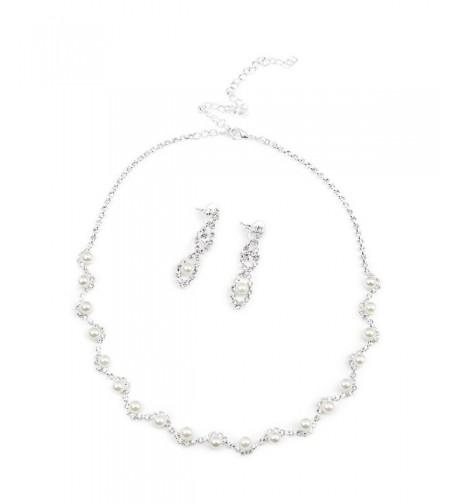 BESTOYARD Rhinestone Necklace Earrings Wedding