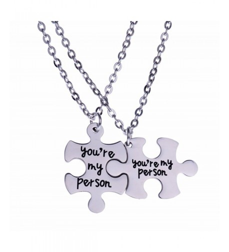 Person Puzzle Pendant Necklace Jewelry