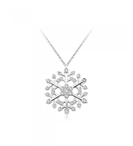 Snowflake Necklace Swarovski Valentines girlfriend