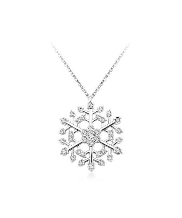 Snowflake Necklace Swarovski Valentines girlfriend