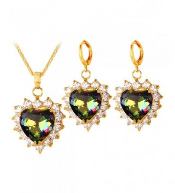 Fashion Wedding Necklace Zirconia Earrings